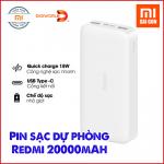 Pin sạc dự phòng Xiaomi Redmi 20000mAh PB200LZM Sạc nhanh 18W - Chính hãng Digiworld