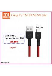 Cáp Type C ZMI AL401 (dài 1m - bọc sợi Kevlar) - Đỏ