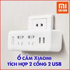 Ổ Cắm Điện Xiaomi Tích Hợp 2 Cổng 2 USB
