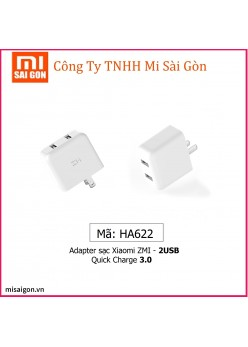 Củ sạc Xiaomi ZMI 2 USB - Quick Charge 3.0 HA622