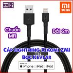 Cáp lightning ZMI AL881 ( Dài 2m - Chuẩn MFI dây bọc sợi KEVLAR )
