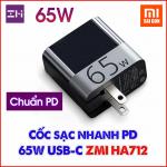 Cốc sạc nhanh PD 65W USB-C ZMI HA712 (Không kèm cáp)