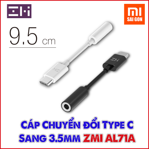 Cáp chuyển đổi Type C sang 3.5mm ZMI AL71A