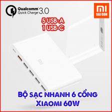 Cốc sạc nhanh 3.0 Xiaomi 6 cổng Xiaomi 60W