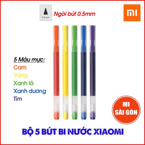 Bộ 5 Bút Mực Nước Xiaomi Mijia 5 Màu Ngòi 0.5mm