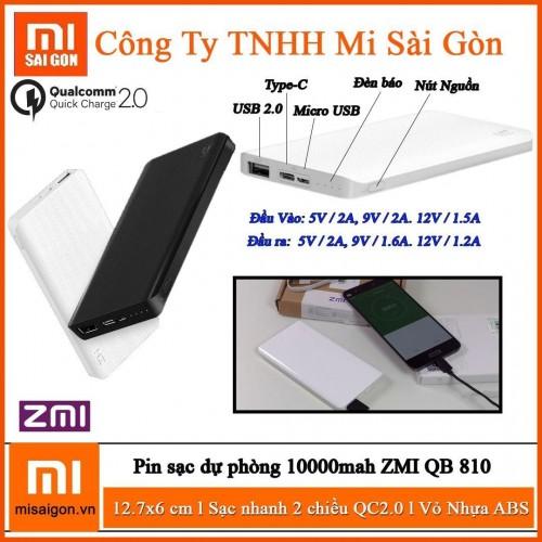 Pin ZMI 10000mah ( Type-C )