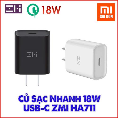 Adapter Sạc Nhanh PD USB-C ZMI 18W HA711 (Đen / Trắng)
