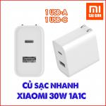Cốc sạc nhanh Xiaomi 30W 1A1C (1 USB-A, 1 USB-C)