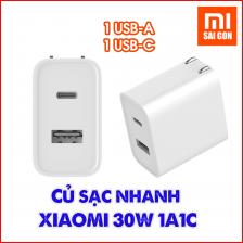 Cốc sạc nhanh Type C Xiaomi 30W 1A1C (1 USB-A, 1 USB-C)