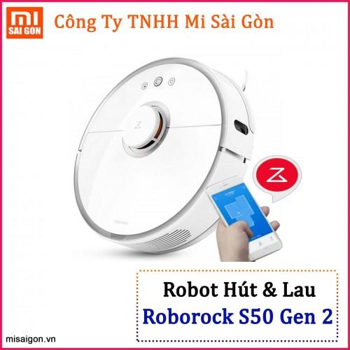 Robot hút bụi, lau nhà Mijia Roborock Gen 2 - S50, S51 Trắng