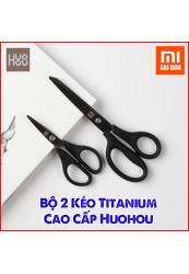 Bộ 2 Kéo Titanium Cao Cấp Huohou