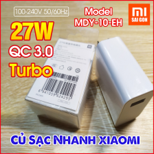 Củ sạc XIAOMI 27W MDY-10-EH ,Quick Charge 3.0 - Turbo