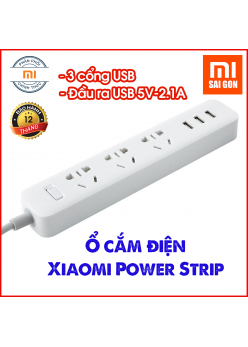 Ổ cắm điện Xiaomi Power Strip 3 cổng USB - Trắng