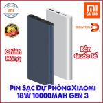Pin Sạc Dự Phòng Xiaomi 18W 10000mAh Gen 3 - Chính hãng Digiworld phân phối